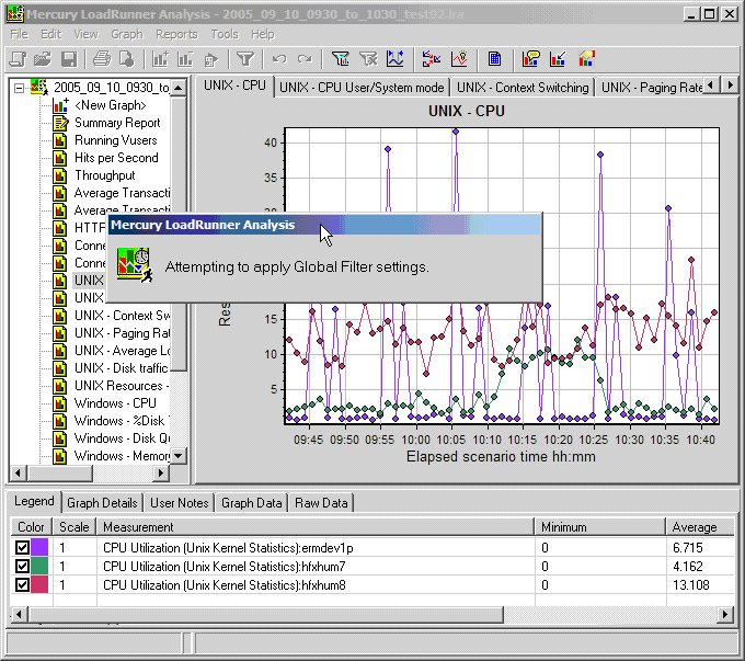 Analysis Screenshot