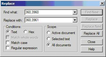 TextPad screenshot