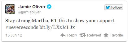 Jamie's tweet