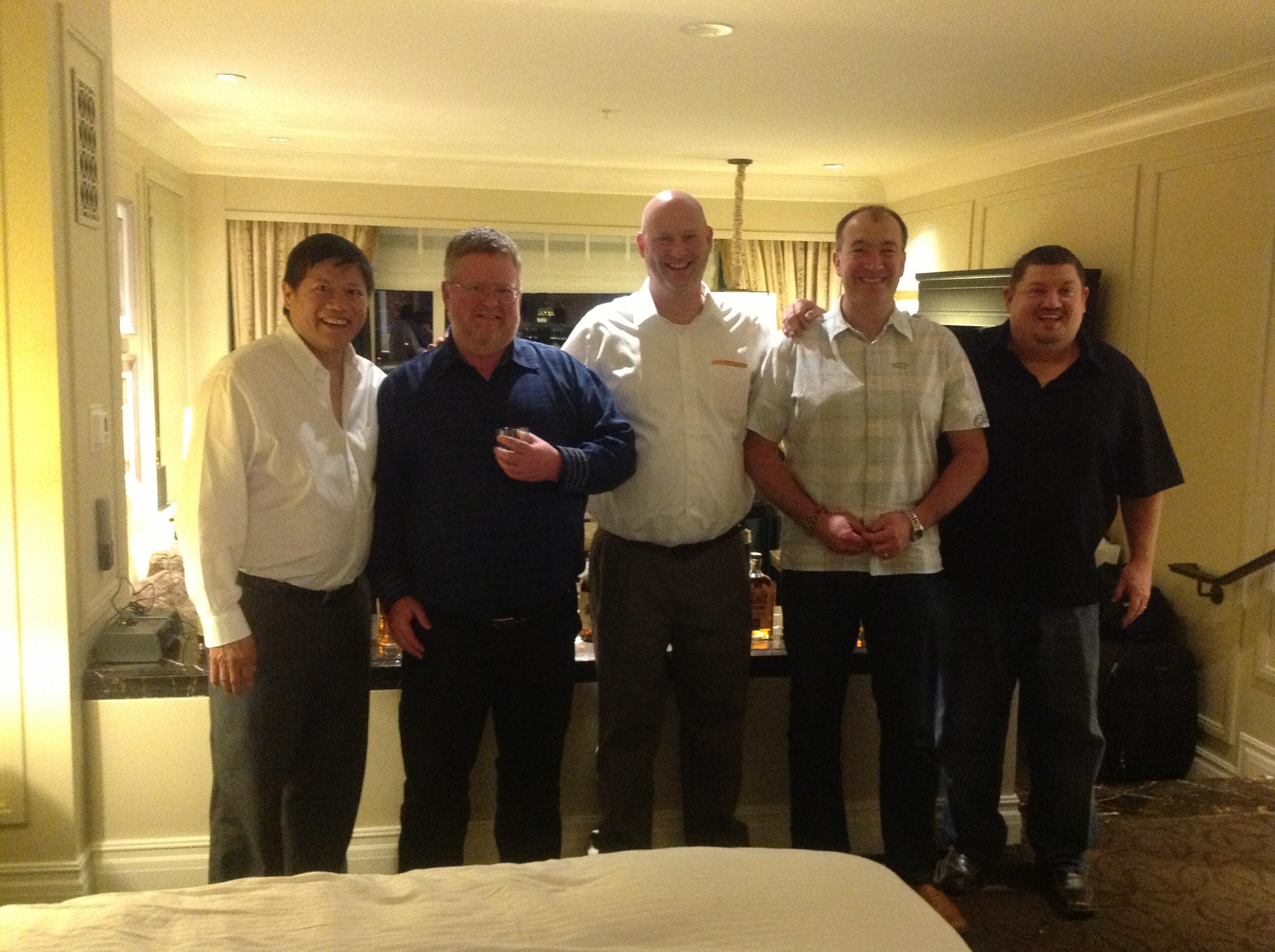 Left to Right. Wilson Mar, Scott Hysmith, James Pulley, Richard Bishop, Scott Moore